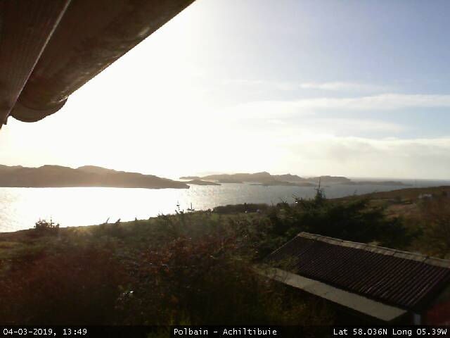 (Achiltibuie, NW Scotland - Webcam Image)
